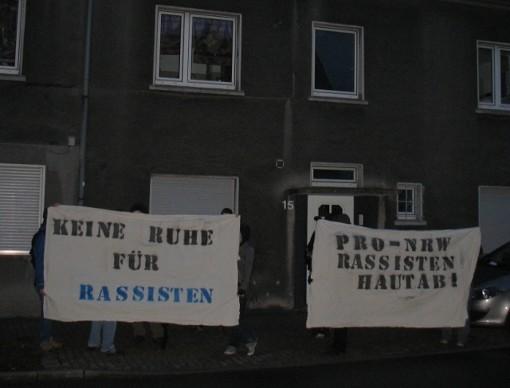 Antifaschistischer Hausbesuch bei pro nrw
