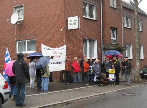 Demonstration gegen Pro NRW an der Horster Moschee