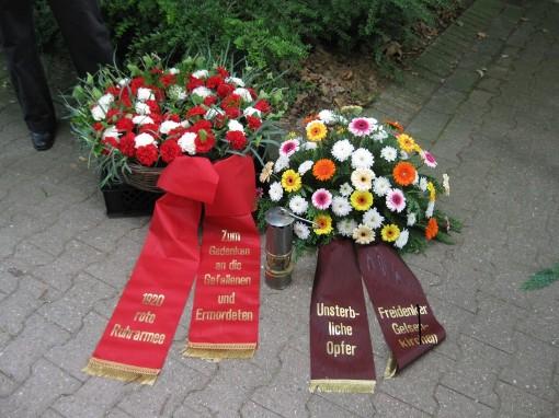 Kranzniederlegung zu Ehren der Gefallenen und Ermordeten Ruhrkämpfer - 90 Jahre Rote Ruhrarmee