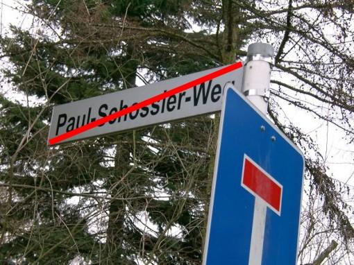 """Bald Vergangenheit - Der """"Paul-Schossier-Weg"""" wird umbenannt"""