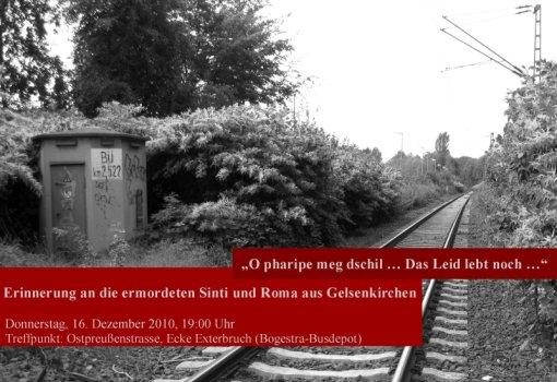 """""""O pharipe meg dschil … Das Leid lebt noch…"""" - Erinnerung an die ermordeten Sinti und Roma aus  Gelsenkirchen"""
