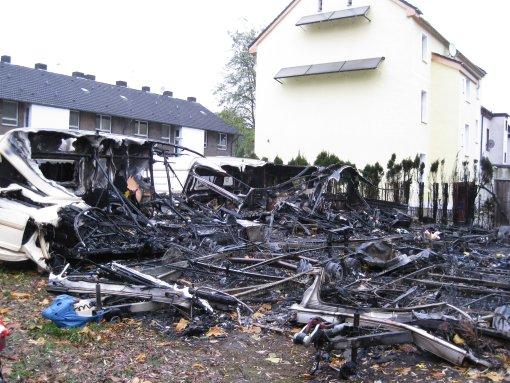 Unmittelbar am Brandort gelegenes Wohnhaus