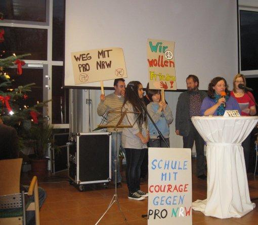Preisverleihung auf der Jahresabschlussfeier von AUF Gelsenkirchen