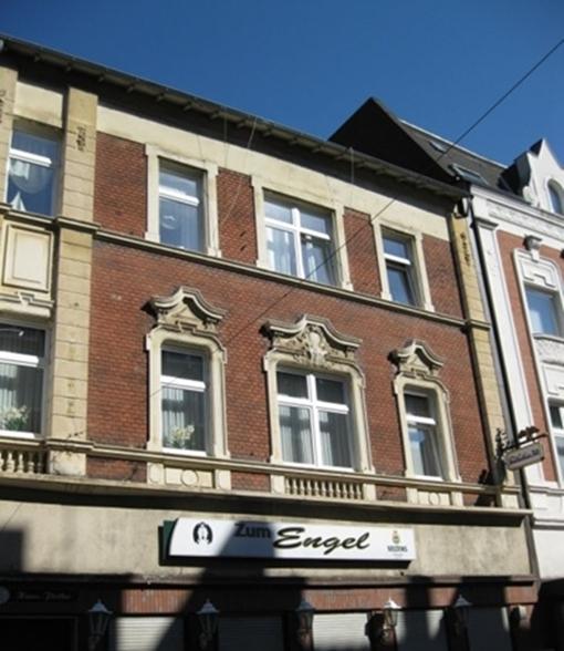 Die Markenstrasse 29 in Gelsenkirchen-Horst heute. Im Erdgeschoß befand sich bis Ende der Dreißiger Jahre das Schuh- und Lederwarengeschäft des jüdischen Kaufmanns Moritz Stein.