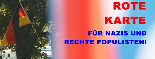 Am 25. Mai 2014 bei der Kommunal- und Europawahl keine Stimme den faschistischen und rechtspopulistischen Parteien! Für eine solidarische, weltoffene und gerechte Gesellschaft!