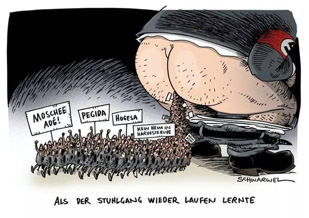 """Kaum hat sich """"Gegida""""  als Gelsenkirchener Ableger der """"Pegida"""" gegründet, da formiert sich auch schon die antirassistische Gegenbewegung: Gelsenkirchen GEGEN Gegida/Pegida"""