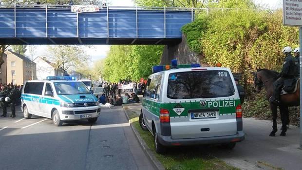 1. Mai 2015. Blockade, die Erste. No Pasaran! (Foto: A. Jordan)