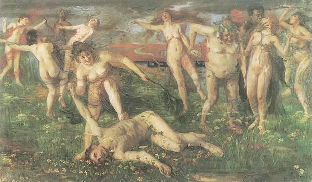 """Lovi Corinth """"Baccanale"""". Seit Dezember 2010 bemühen sich die Erben um Rückgabe des verfolgungsbedingt geraubten Kunstwerks, dass sich heute im Besitz des Kunstmuseums Gelsenkirchen befindet."""