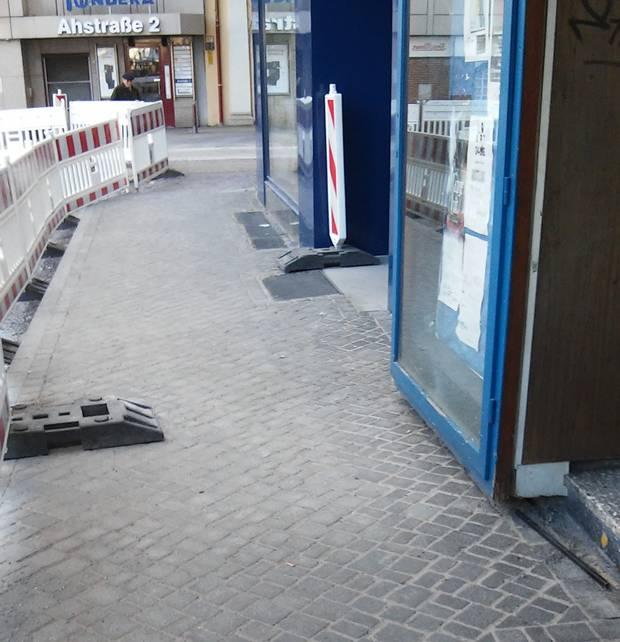 Schon bald werden an der Ebertstr. 1 die an Lebens- und Leidenswege der jüdische Familie Back erinnernden Stolpersteine wieder eingebaut